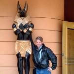 Anubis statue at Universal Studios