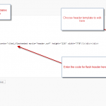 Final overview of the install and edit of the header.php file