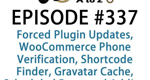 WordPress Plugins A to Z Episode 337 Forced Plugin Updates