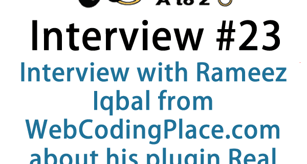 Today's interview is with Rameez Iqbal from WebCodingPlace.com on his plugin, Real Estate Manager Pro. This plugin is for people looking for an easy and beautiful way to list properties.
