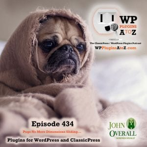 It's Episode 434 and I've got plugins for Affiliate Commissions, Analytics in Your Dashboard, Image Sliders and ClassicPress Options. It's all coming up on WordPress Plugins A-Z! CouponPanel, Site Kit by Google, Master Slider – Responsive Touch Slider, and ClassicPress options in Episode 434
