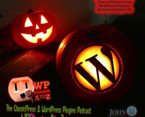 Wordpress logo as and with a jack-o-lantern!